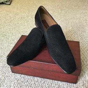 NWT Mezlan Textured Loafer - 13 Black
